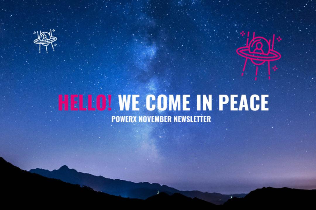 HELLO! WE COME IN PEACE